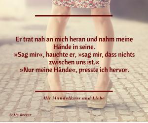 Buchzitat Jo Berger Mit Mandelkuss und Liebe