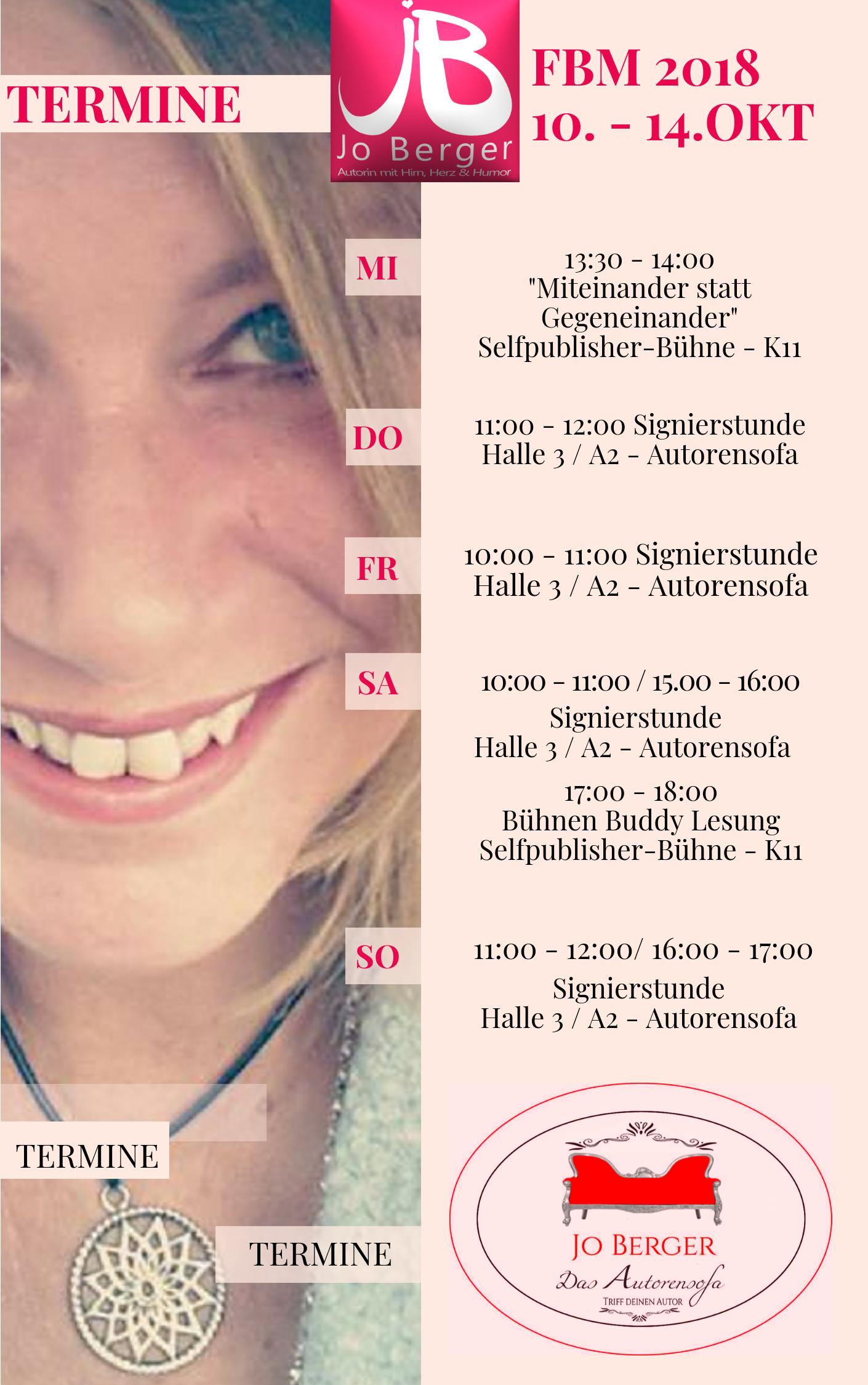 Frankfurter Buchmesse 2018 Terminei Jo Berger