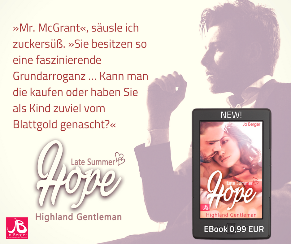Liebesroman Late Summer Hope - Highland Gentleman - Jo berger